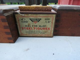 Vintage Machine Made Steel Letters Millers Falls 3/32 And 1/8