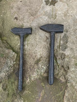 2 Cast Iron Miniature Blacksmith Hammers.  Rc184