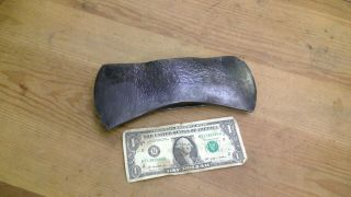 "Vintage Unmarked Double Bit Axe Head 8 3/4 "" Long 3 5/8 "" Wide 3lbs"