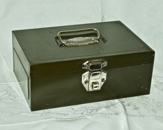 Vintage Union Steel Wilco Security Chest Olive Green Metal Case Box W/handle Usa