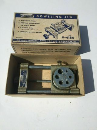 Vintage Craftsman Doweling Jig No.  9 - 4186 In The Box Made In The Usa