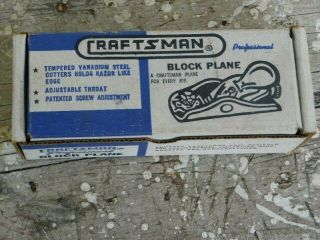 Craftsman No.  3732 Knuckle Joint Block Plane Tool