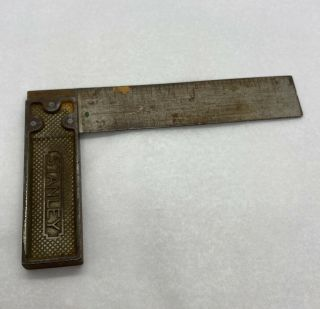 """Vintage Stanley Sweetheart Metal Try Square Woodworking Tool 6 """""""