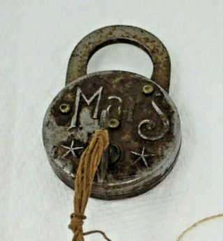 Vintage Mars Padlock With Key Does Not Open