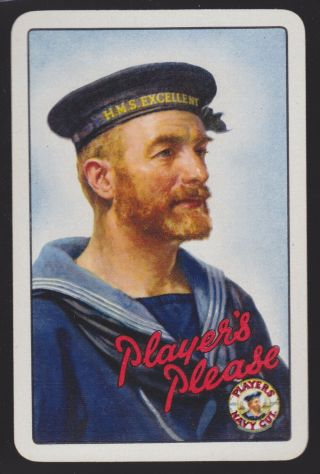 1 Single Vintage Swap/playing Card Players Navy Cut Cigarettes Sailor Tobacco