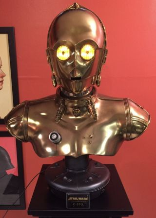 Star Wars Sideshow C - 3po Life - Size Bust 1:1 Scale Fred Barton Droid 153/750
