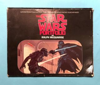 Star Wars Portfolio By Ralph Mcquarrie 1977 - - Complete With All 21 Prints