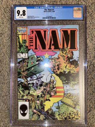 The Nam 1 (1986) Marvel Comics/ Key 1st Issue Cgc 9.  8 White Pages
