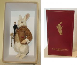 2005 R.  John Wright Doll - The White Rabbit - 136 Of Only 500 - Mib