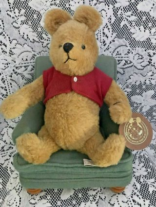 R.  John Wright Winnie The Pooh And His Favorite Chair 68/500,  Signed By Artist