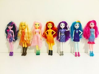 """Rare My Little Pony 12 """" Equestria Dolls With Hair"""