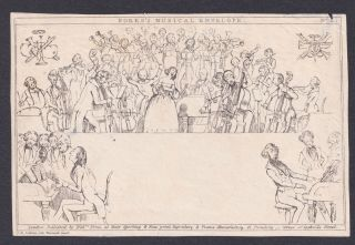 1840s,  Fores's Musical Envelope,  Mulready,  Caricature,  Qv,  Queen Victoria,  Gb