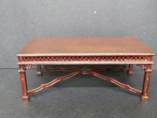 Dollhouse Dining Room Table - Chippendale - Mahogany