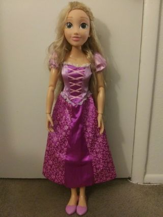 "32 "" Disney Tangled Rapunzel Princess Playdate By Jakks My Size Large Jumbo Doll"