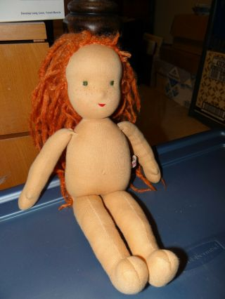 Kathe Kruse Cloth Doll 14 In Red Hair No Clothes