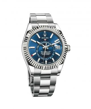 Rolex Sky - Dweller Blue Index Dial Dual Time Zone Watch