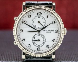 Patek Philippe 5034g - 001 Travel Time 5034g 18k White Gold Box And Papers
