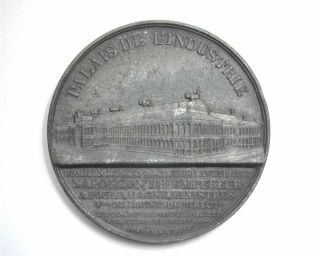 Paris Exposition 1855 Palace Of Industry Tin Medal 17.  4g,  36.  5mm Napoleon Iii