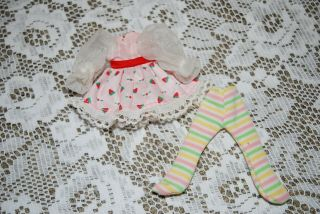 Reserved Listing Vintage Strawberry Shortcake Doll Berrykin Ss Dress & Tights