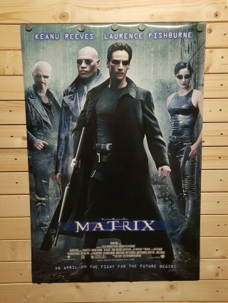 The Matrix (1999) Movie Poster - Rolled - Double - Sided - Extremely Rare