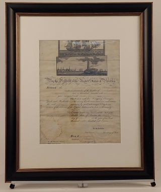 Permit Signed By James Madison & James Monroe