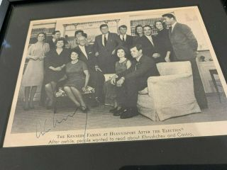 John F Kennedy Signed Family Portrait Framed (with Letter Of Authenticity)